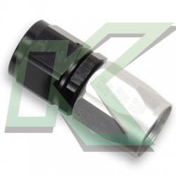 Niple Russell Para Union De Lineas De Combustible / 8an Negro-Aluminio