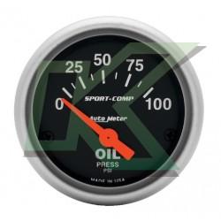 """Medidor De Presion De Aceite Electronico Sport-Comp/autometer 2"""" (50.8mm)"""