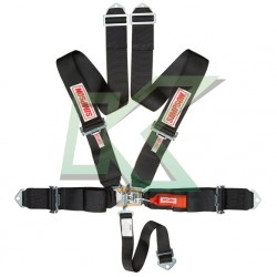 """Cinturón Simpson 5 puntas de 3"""" sistema Latch  (negro)"""