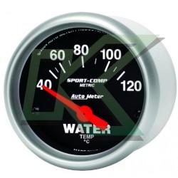 """Medidor de temp agua en celsius Sport-comp/Autometer 2-1/16"""" (52.4mm)"""