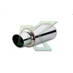 """Muffler cromado de 2.5"""" cilíndrico salida en angulo Vibrant / TPV"""