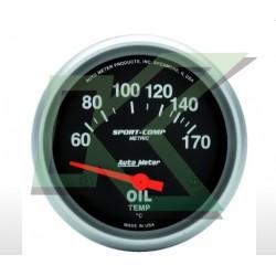 """Medidor De Temperatura De Aceite Electronico Sport-Comp/autometer 2-5/8"""" (67mm)"""