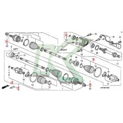Fuelle de homocinética interno original Honda / Civic SI 06-11
