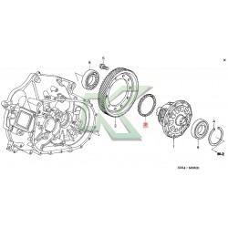 Anillo Para Diferencial Original Honda / Velocimetro Serie K