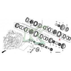 Kit de reparación 5ta/6ta marcha - Original Honda / Serie K 02-05 (6ta)