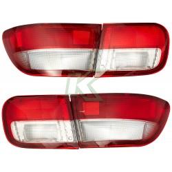 Focos Traseros Civic 92 - 95 3 Puertas / Rojo - Clear