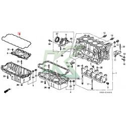 Empaque De Carter De Aluminio Original Honda / Serie D 96-00