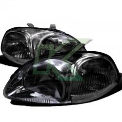 Focos Delanteros Civic 96-98 / Crystal - Black
