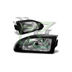 Focos Delanteros Civic 92-95 / Crystal - Black