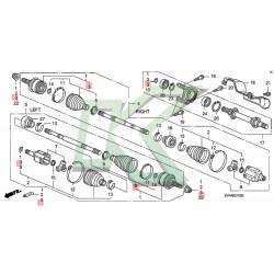 Fuelle de homocinética externo original Honda / Civic SI 06-11