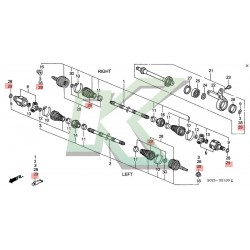Fuelle de homocinética externo original Honda / Civic SI 99 / Del sol 96-97 VTEC