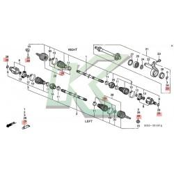 Fuelle De Homocinetica Externo Original Honda / Civic Si 99 / Del Sol 96-97 Vtec