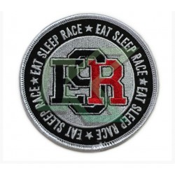 Embroidered circle ESR Patch / Black/white