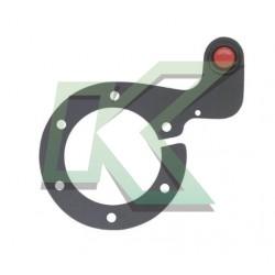 Botón pulsador de Nitro con Soporte - Sparco / Rojo