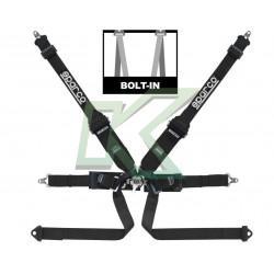Cinturón Sparco de 6 puntas negro - Hans / Fia 2022