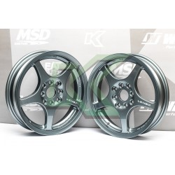 Llantas (par) Lenso Skinnie - Xpd 15x3.5 Gunmetal / Apernadura 4x100 O 4x114