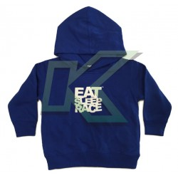 Toddler Logo Pull Over Hoodie / Blue-White