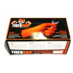 Pack 100 guantes de Nitrilo - Tiger Grip / Talla L
