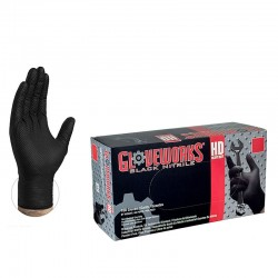 Pack 100 guantes Nitrilo negros - Gloveworks / Talla XL