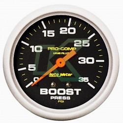"Medidor Presion Turbo (Boost 35Psi) Pro-Comp/Autometer 2-5/8 (66.7Mm)"""