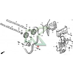 Perno Honda Para Tensor / Serie B Vtec