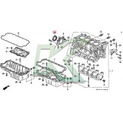 Reten cigueñal original HONDA (80x100x10) / Serie B-D