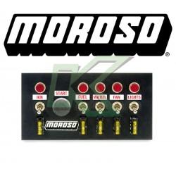 """Botonera - Switch panel de aluminio Moroso/ 4"""" X 7.75"""" - 20 AMP"""